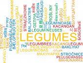 picture of legume  - Background concept wordcloud multilanguage international many language illustration of legumes - JPG