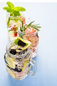picture of infusion  - Fresh infused water made with organic ccitruses and berries - JPG