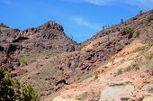 stock photo of volcanic  - Volcanic Rock Basaltic Formation in Gran Canaria Canary Islands - JPG