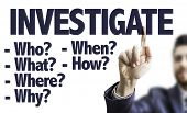 picture of private investigator  - Business man pointing the text - JPG