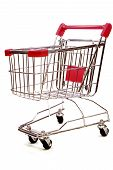 Shopping Trolley On White Background 3