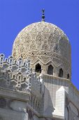 cupola of mosque in Alexandria city in Egypt