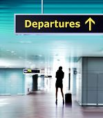 stock photo of deportation  - Tourist info signage in airport in international language - JPG