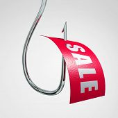 sale label on hook