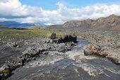 Desolate icelandic landscape