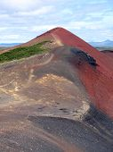 Red volcanic mountain