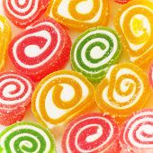 Colorful fruit-paste sweets close-up
