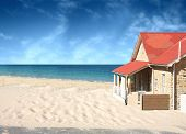 stock photo of beach-house  - the house on the beach - JPG