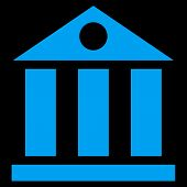 Постер, плакат: Bank Building Flat Vector Symbol