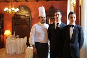 Staff of a luxury restaurant