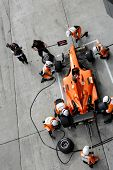 Sepang, MALAYSIA - 21 November: Pit crew of Team Nederlands in action at the World A1 GP championshi