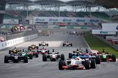 Sepang, MALAYSIA - 23 November: Start of the race at the World A1 GP championship races held in Mala