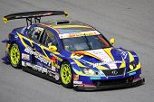 SEPANG, MALAYSIA - JUNE 21: The WedsSport IS350 car (19) in action at the Super GT International Ser