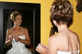 Bride Infront Of A Mirror