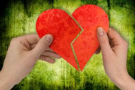 image of broken-heart  - love and divorce - JPG