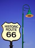 Route 66 Sign And Lampost