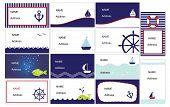 Set of stylish business cards