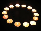 picture of unity candle  - a ring of tea light candles - JPG
