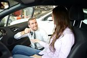 Car Dealership Advice - Sellers And Customers When Buying A Car poster