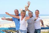 stock photo of 55-60 years old  - Senior citizens on holiday - JPG