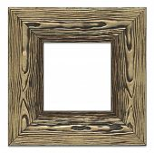 Blank picture frame rough bronze painted wooden texture
