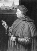 Thomas Wolsey (1473-1530). Engraved by W.H.More and published in Lodge's British Portraits encyclope