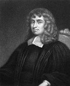 Isaac Barrow (1630-1677). Engraved by B.Holl and published in The Gallery Of Portraits With Memoirs encyclopedia, United Kingdom, 1833.