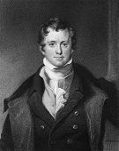 Humphrey Davy (1810-1876). Engraved by E.Scriven and published in The Gallery Of Portraits With Memo