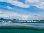 Melting ice-cover of Lake Laberge, Yukon, Canada