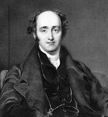 John Wilson Croker (1780 – 1857). Radierung von W.Finden und in der National Portrait Gallery Ency veröffentlicht