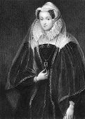 Mary I Queen of Scotland (1542-1587). Engraved by W.T.Fry and published in Lodge's British Portraits
