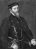 Thomas Gresham (1519-1579). Engraved by H.Robinson and published in Lodge's British Portraits encyclopedia, United Kingdom, 1823.