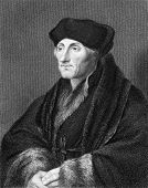 Erasmus (1466/1469-1536). Engraved by E.Scriven and published in The Gallery Of Portraits With Memoi