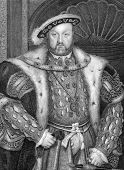 Henry VIII (1491-1547). Engraved by W.T.Fry and published in Lodge's British Portraits encyclopedia,