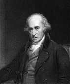 James Watt (1736-1819). Engraved by C.E.Wagstaff and published in Gallery of Portraits with Memoirs