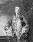 Augustus Keppel, 1st Viscount Keppel (1725-1786). Engraved by H.T.Ryall and published in portraits a