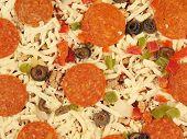 Frozen Supreme Style Pizza