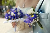 Bridal Bouquet And Boutonniere Groom