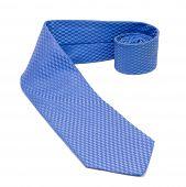 Blue Necktie Isolated On White