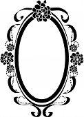 Oval Frame Silhouette
