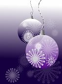 Purple Christmas Ball Decorations