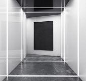 Abstract White Futuristic Interior poster