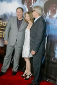 SAN DIEGO, CA - JULY 23:Jon Favreau, Calista Flockhart and Harrison Ford arrive at the world premiere of
