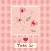 picture of greeting card design  - flowers card - JPG
