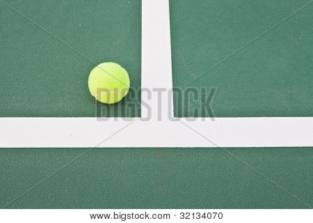 Tennis Court At Base Line
