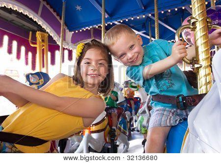 Kids having fun on a