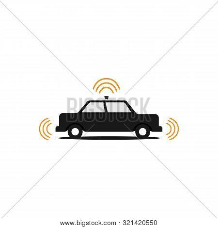 poster of Autonomous Self Driving Car Vector Image Design Illustration