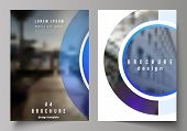 The Vector Layout Of A4 Format Modern Cover Mockups Design Templates For Brochure, Magazine, Flyer,  poster
