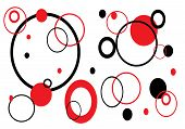 Red And Black Circles On White