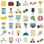 Corporate Governance Icons Set. Flat Set Of Corporate Governance Vector Icons For Web Design poster